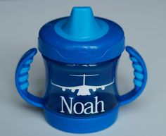 Personalized C17 Nuk Sippy Cup by crazylovely on Etsy, $9.00- I LOVE Loren's like this in pink
