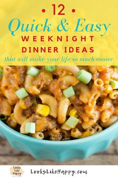 12 Quick and Easy Diner Ideas - Busy Weeknight Dinners