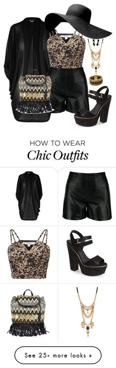"""""""Untitled #198"""" by traceyenorton on Polyvore featuring City Chic, Miss Selfridge, Steve Madden, Henri Bendel, Noir Jewelry, Topshop and Rebecca Minkoff"""