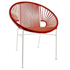The Concha Chair - Red Weave is the perfect modern piece of furniture for any space