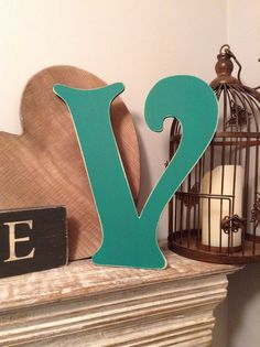 Wooden Wall Letter - Hand-Painted - Roman Font - V - Various sizes & fonts by LoveLettersMe on Etsy