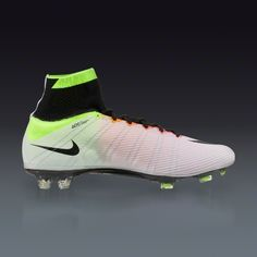 Buy Nike Mercurial Superfly FG - WHITE/VOLT/TOTAL ORANGE/BLACK Firm Ground Soccer Cleats on SOCCER.COM. Best Price Guaranteed. Shop for all your soccer equipment and apparel needs.