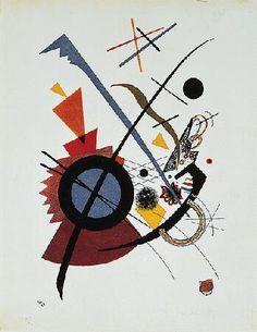Violet, by Vasily Kandinsky | 'Kleur en vorm kan voldoende zijn, het hoeft geen invloed te hebben