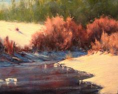 "Willows in the Winter 2 by Mark Saenger Oil ~ 9"" x 12"""