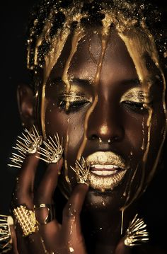 ART~ Amazing And Dramatic, Incredible Too, What Gold On Black Can Do ~c.c.c~ Nailswag by Natalie Minerva.