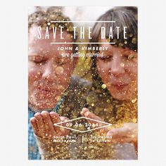 Sparkling Save the Date