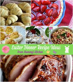 Mommy's Kitchen - Recipes From my Texas Kitchen!: Over 50 Easter Dinner & Dessert Recipe Ideas! Easter Recipes, Holiday Recipes, Great Recipes, Dinner Recipes, Dessert Recipes, Favorite Recipes, Holiday Meals, Recipe Ideas, Desserts
