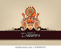 Beautiful Maa Durga Face with Floral Frame & Stylish text on Elegant background for Hindu Festival Happy Dussehra. Happy Durga Puja, Durga Maa, Dussehra Images, Stylish Text, Hindu Festivals, God Prayer, Royalty Free Stock Photos, Drawings, Frame
