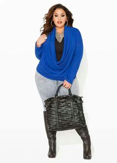 Ashley Stewart Hacci Drape Neck Sweater, Seamless Cami, Light Acid Wash Denim Pants and Suede and Lizard Laser Bag Size 12 Fashion, Plus Size Fashion For Women, Plus Size Women, Plus Fashion, Womens Fashion, Fashion Edgy, Curvy Petite Fashion, Curvy Girl Fashion, Ashley Stewart