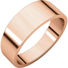 14kt Rose Gold 7mm Flat Tapered Band. Also Available in 10kt,14kt White Gold and Yellow Gold...(STFT7:2435:P).! Price: $279.99