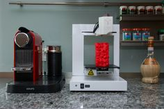 Heute im Ersteinsatz: Der UP! Plus 2 3D Drucker - klein, einfach zu bedienen, zuverlässig: Perfekt für zu Hause!