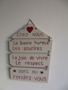 """pancarte message """"chez nous"""" SUR COMMANDE : Décorations murales par ptitecrea"""