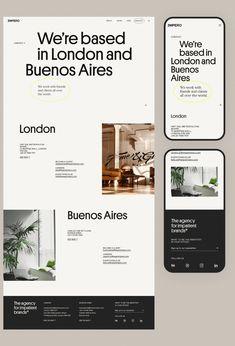 Impero's Bold Identity Rebrand and Site Webdesign Inspiration, Web Inspiration, Website Layout, Web Layout, Design Agency Website, Minimal Website Design, Layout Design, Web Grid, Self Branding