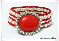 DIY Kırmızı İncili Bileklik / DIY Red Pearl Bracelet