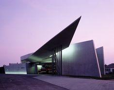 Estación de Bomberos Vitra, en Weil am Rhein (Alemania). Obras de Zaha Hadid