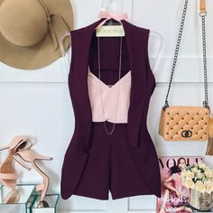 Image may contain: 1 person Classy Outfits, Chic Outfits, Fashion Outfits, Womens Fashion, Short Outfits, Summer Outfits, Mode Rock, Look Con Short, Look Fashion