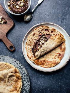 Vegan, Gluten Free and Sugar Free Chocolate Hazelnut Pancakes