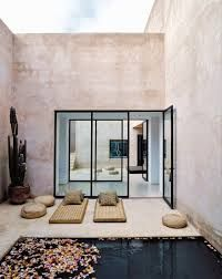 Moroccan inspired courtyard