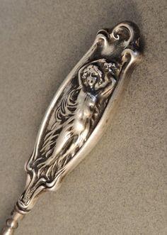 Antique Button Hook, Sterling Silver Button Hook, Art Nouveau, Victorian Bedroom Accessories, Repousse Silver, on Etsy, $68.00
