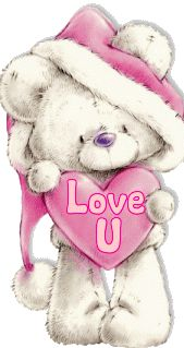 Teddy bear holding a pink heart. Tatty Teddy, Cute Images, Cute Pictures, Blue Nose Friends, Glitter Graphics, Love Bear, Cute Teddy Bears, Pink Christmas, Digital Stamps