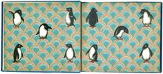 Oh 'hello delicious endpapers' indeed.  http://penandoink.com/ johnny-penguin-endpapers