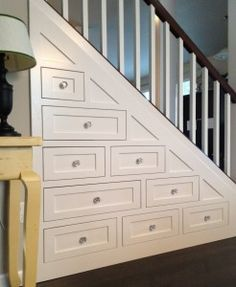 Awesome Cabinets under Stairs!