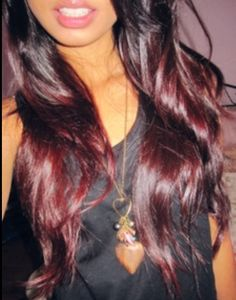 Cherry coke ombre.. Think I'm going to do this