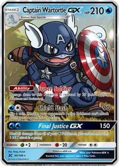 Captain Wartortle GX Custom Pokemon Card - Find out Pokémon from the True Earth by using Pokémon GO! Pokemon Comics, Pokemon Memes, Pokemon Sammelkarten, Pokemon Funny, Pokemon Fusion, Pokemon Stuff, Cool Pokemon Cards, Rare Pokemon Cards, Pokemon Trading Card