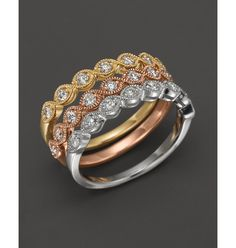 Diamond and 14K Yellow Gold Stackable Ring, .25 ct. t.w. | Bloomingdale's