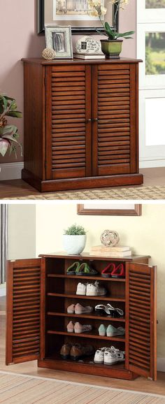 shoe storage cabinet: Family Entryway Shoe Cabinet Bench ~ General ...