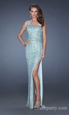 d07c5a0192 Sexy Sleeveless One-Shoulder Natural Lace Prom Dresses gparty24454 How To  Look Classy