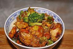 Hähnchenbrust nach Szechuan - Art mit Brokkoli