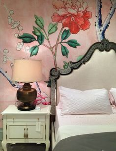 What's hot at High Point Fall Market 2015? Florals, florals and more florals. Cynthia Rowley for Hooker Furniture.
