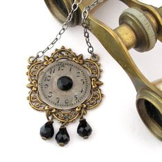 Steampunk noir necklace exclusive design by Mystic Pieces
