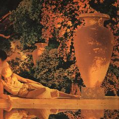 The Garden of Allah (detail) by Maxfield Parrish