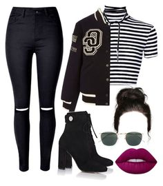 """""""Untitled #155"""" by kingreus ❤ liked on Polyvore featuring WithChic, Opening Ceremony, Gianvito Rossi, Lime Crime and Linda Farrow"""