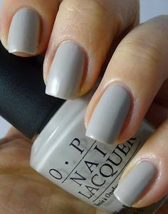 Superb light gray nail polish tone to experiment with