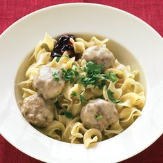 Made from a combination of beef and pork, the Swedish meatballs recipe will become one of your favorite dishes. Swedish meatballs are a Scandinavian favorite that go from appetizer to main in a flash (just add noodles), and the meatballs are ready when you are. It's a Swedish tradition to serve Swedish meatballs with sweet-tart lingonberry jam; if you can't find it, grape or red-currant jelly is a good substitute.