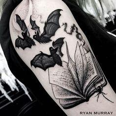 just open the book : bats tattoo
