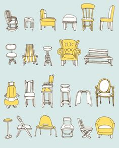 I recently did an illustration of chairs for a wedding invite, and this would have been great inspiration!
