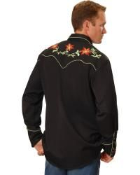 Scully Floral Embroidery Vintage Western Shirt - Sheplers