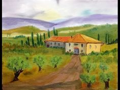 ▶ Paint Along with Larry Hamilton - March-19-2014 -Tuscan Country House for Class - YouTube