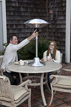 Stainless Steel Table Top Round Halogen Patio Heater