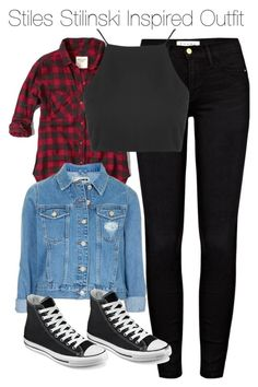 """Stiles Stilinski Inspired Outfit"" by staystronng ❤ liked on Polyvore featuring Frame Denim, Abercrombie & Fitch, Topshop, Converse, StilesStilinski and tw"