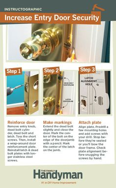 DIY Tutorial: How to Reinforce Your Entry Door to Increase Home Security.
