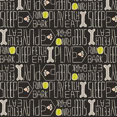 Dog's Life fabric by heatherdutton on Spoonflower - custom fabric