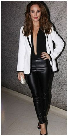 Look blazer white and black
