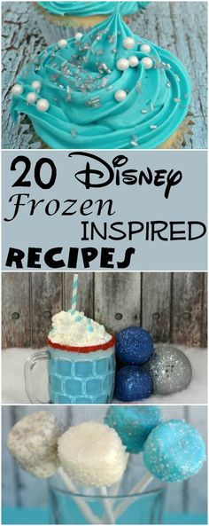 20 Disney Frozen Inspired Recipes that are perfect for birthday parties and lovers of Disney. Frozen 3rd Birthday, First Birthday Themes, Birthday Parties, Birthday Ideas, Birthday Activities, Disney Birthday, Birthday Stuff, Baby Birthday, Birthday Cakes