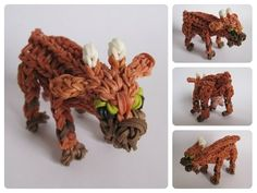 Rainbow Loom 3D GOAT figure. Designed and loomed by Nancy at Loombicious. Click photo for YouTube tutorial. 11/03/14.