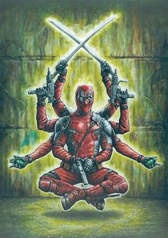 Worship the D! Add a print of this to complete your shrine to 'the merc with the mouth' Deadpool. Marvels most notorious comic book character is coming . Worship the D! Marvel Dc Comics, Anime Comics, Bd Comics, Marvel Art, Marvel Heroes, Deadpool Y Spiderman, Deadpool Funny, Deadpool Movie, Deadpool Wolverine